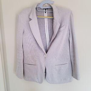 Daisy Fuentes Grey ribbed blazer size M